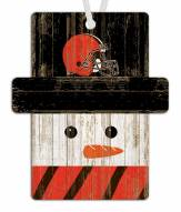 Cleveland Browns Snowman Ornament