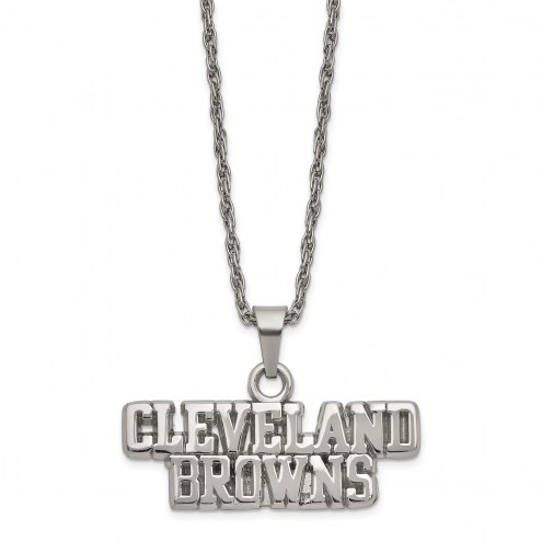 Cleveland Browns Stainless Steel Pendant on Chain