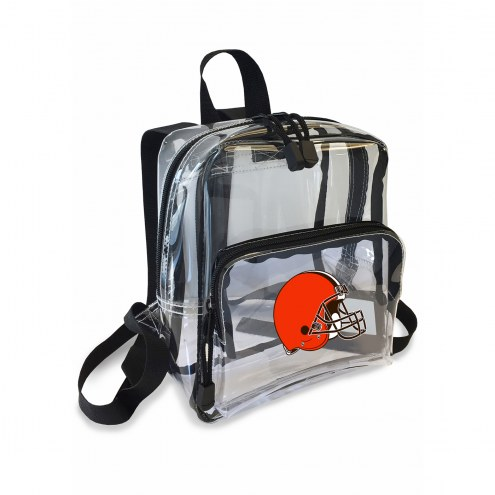 Cleveland Browns Stadium Friendly Clear Mini Backpack