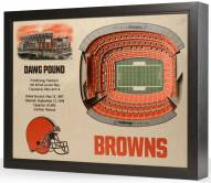 Cleveland Browns 25-Layer StadiumViews 3D Wall Art