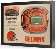 Cleveland Browns 25-Layer StadiumViews 3D Wall Art