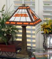 Cleveland Browns Stained Glass Mission Table Lamp
