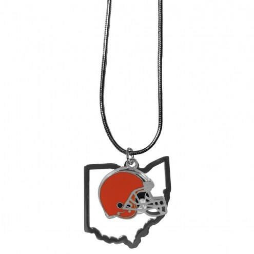 Cleveland Browns State Charm Necklace