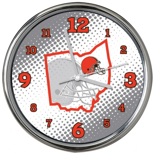 Cleveland Browns State of Mind Chrome Clock