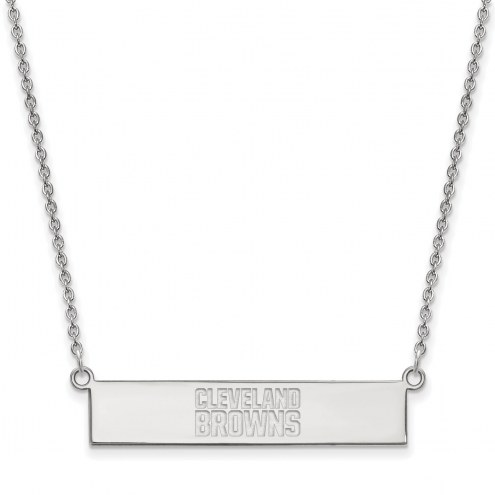 Cleveland Browns Sterling Silver Bar Necklace