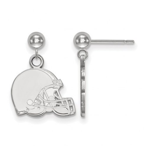 Cleveland Browns Sterling Silver Dangle Ball Earrings