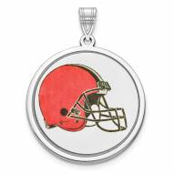 Cleveland Browns Sterling Silver Disc Pendant