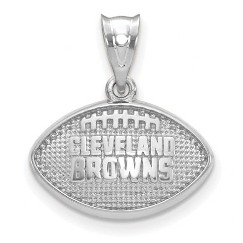 Cleveland Browns Sterling Silver Football with Logo Pendant