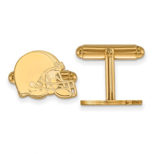 Cleveland Browns Sterling Silver Gold Plated Cuff Links