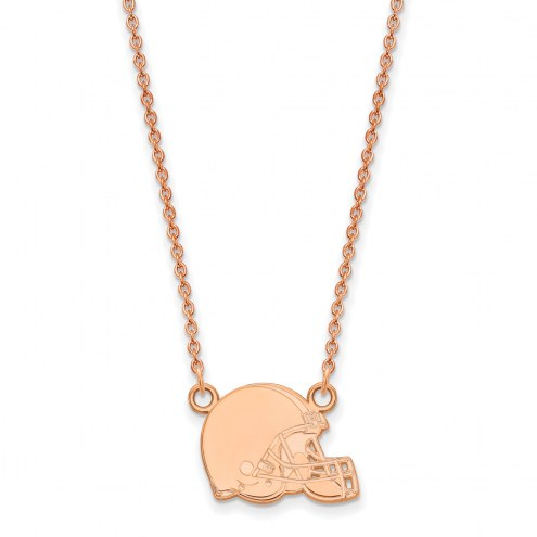 Cleveland Browns Sterling Silver Rose Gold Plated Small Pendant Necklace