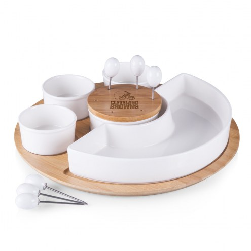 Cleveland Browns Symphony Appetizer Serving Set