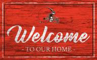 Cleveland Browns Team Color Welcome Sign