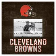 """Cleveland Browns Team Name 10"""" x 10"""" Picture Frame"""