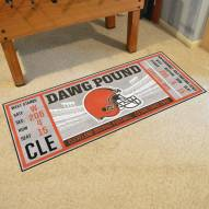 Cleveland Browns Ticket Runner Rug
