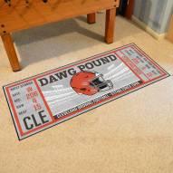 Cleveland Browns Ticket Runner Rug