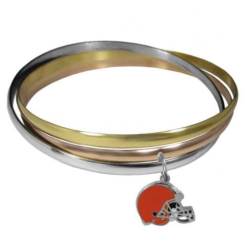 Cleveland Browns Tri-color Bangle Bracelet