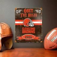 Cleveland Browns Vintage Metal Sign
