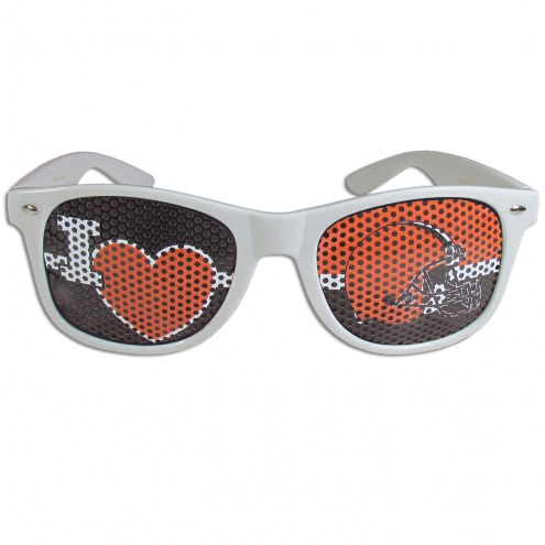 Cleveland Browns White I Heart Game Day Shades