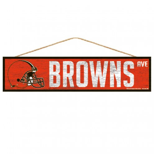 Cleveland Browns Wood Avenue Sign
