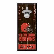 Cleveland Browns Wood Bottle Opener