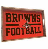 Cleveland Browns Wooden Serving Tray