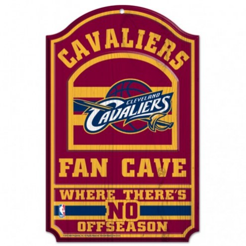 Cleveland Cavaliers Fan Cave Wood Sign
