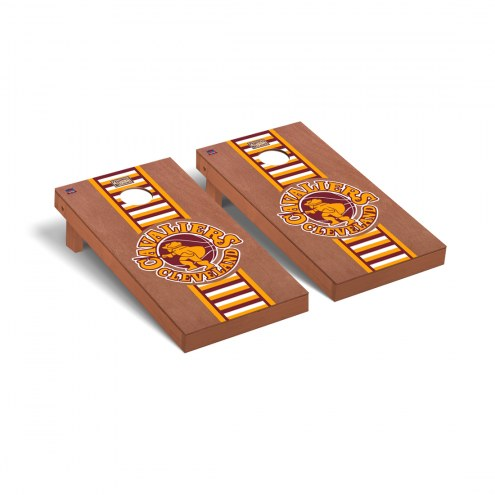 Cleveland Cavaliers Hardwood Classic Rosewood Stained Stripe Cornhole Game Set