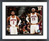 Cleveland Cavaliers Kyrie Irving & LeBron James Action Framed Photo