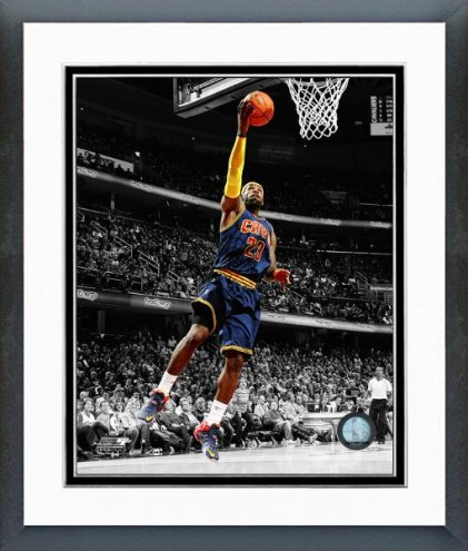 Cleveland Cavaliers LeBron James Spotlight Action Framed Photo