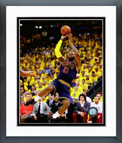 Cleveland Cavaliers LeBron James Game 2 of the NBA Finals Framed Photo