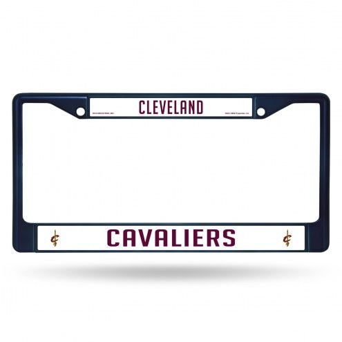 Cleveland Cavaliers Navy Colored Chrome License Plate Frame