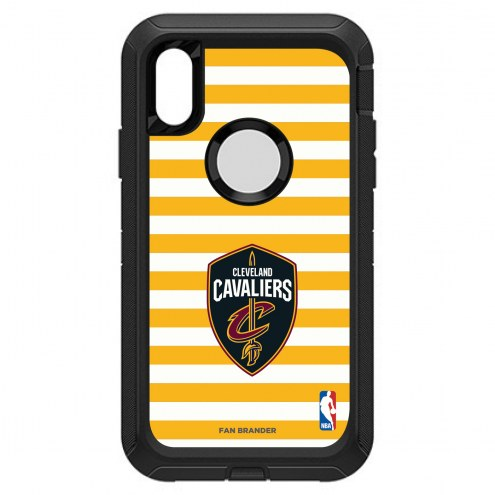Cleveland Cavaliers OtterBox iPhone XR Defender Stripes Case