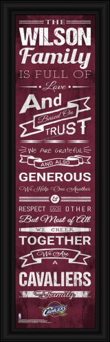 Cleveland Cavaliers Personalized Family Cheer Framed Art