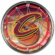 Cleveland Cavaliers Round Chrome Wall Clock