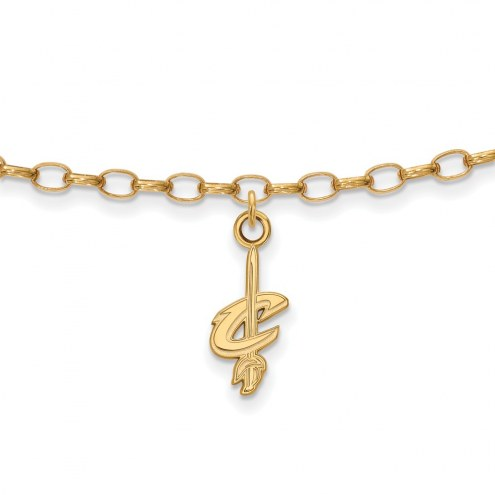 Cleveland Cavaliers Sterling Silver Anklet