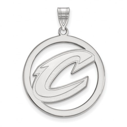 Cleveland Cavaliers Sterling Silver Large Circle Pendant