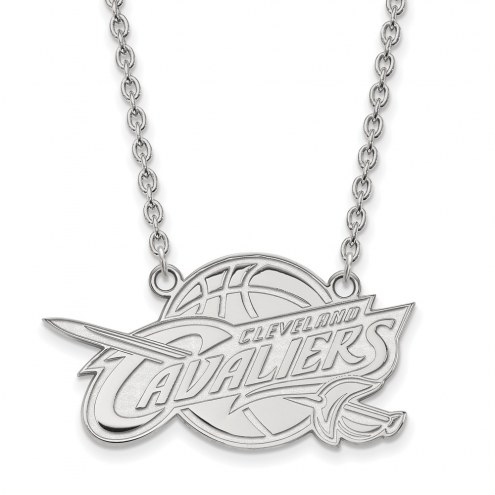 Cleveland Cavaliers Sterling Silver Large Pendant Necklace