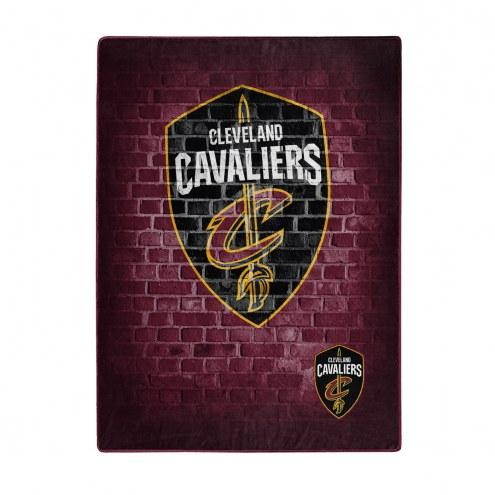 Cleveland Cavaliers Street Raschel Throw Blanket