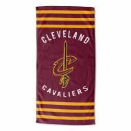 Cleveland Cavaliers Stripes Beach Towel