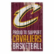 Cleveland Cavaliers Proud to Support Wood Sign
