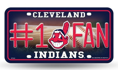 Cleveland Indians #1 Fan License Plate