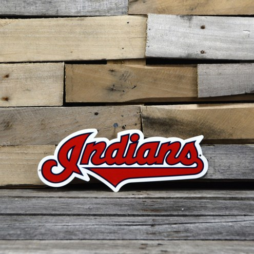 "Cleveland Indians 12"" Steel Logo Sign"