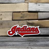 """Cleveland Indians 12"""" Steel Logo Sign"""