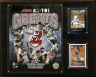 """Cleveland Indians 12"""" x 15"""" All-Time Greats Photo Plaque"""