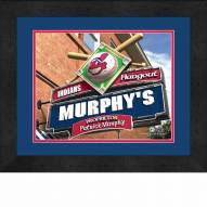 Cleveland Indians 13 x 16 Personalized Framed Sports Pub Print