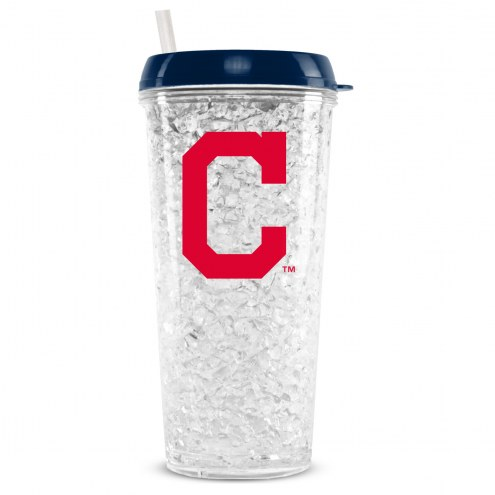 Cleveland Indians 16 oz. Crystal Freezer Travel Tumbler