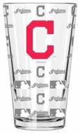 Cleveland Indians 16 oz. Sandblasted Pint Glass