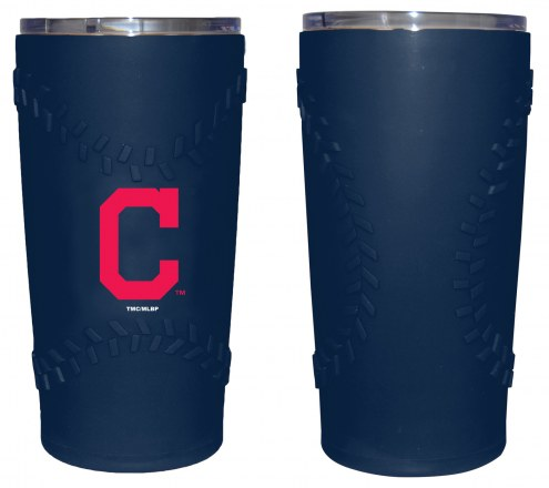 Cleveland Indians 20 oz. Stainless Steel Tumbler with Silicone Wrap