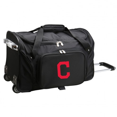 """Cleveland Indians 22"""" Rolling Duffle Bag"""