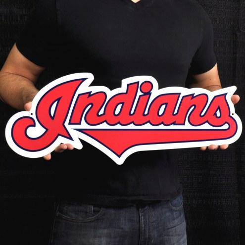 """Cleveland Indians 24"""" Steel Logo Sign"""